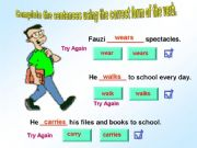 English powerpoint: Subject Verb Agreement - Interactive