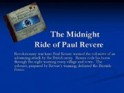 English powerpoint: The midnight Ride of Paul Revere