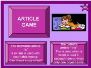 English powerpoint: Article game (indefinite article