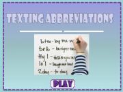 English powerpoint: Texting Abbreviations (1/2)