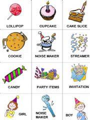 birthday 12 flashcards birthday vocabulary twelve flashcards with ...