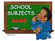 English powerpoint: School subjects - game