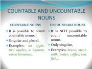 English powerpoint: Countable & Uncountable Nouns
