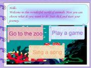 English powerpoint: World of animals (fully editable)