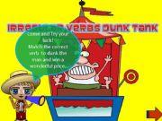 English powerpoint: Irregular verbs dunk tank