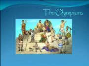 English powerpoint: The Olympians ppt