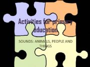 English powerpoint: Sounds: animals, people and things