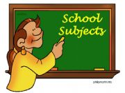 English powerpoint: School subjects (Part 1)