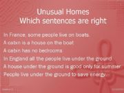 English powerpoint: Unusual Homes part 2/2