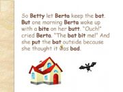 English powerpoint: Berta and Her Pet Bat, Part 2