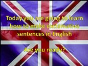English powerpoint: Exclamative sentences