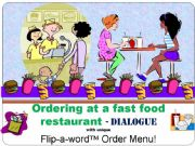 English powerpoint: At a fast food restaurant, PART 3 - DIALOGUE