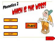 English powerpoint: PHONETICS GAME PART 2. REUPLOADED