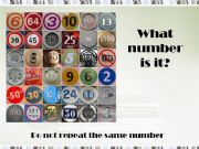 English powerpoint: What number is it?