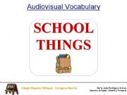 English powerpoint: School Things - What do you keep in the...?