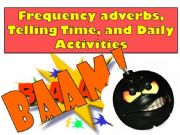 English powerpoint: BAAM Game part 1 - Frequency adverbs, Telling Time & Daily Activities