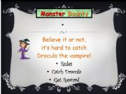 English powerpoint: Halloween Monster Bounty Game