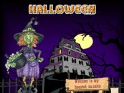English powerpoint: Halloween - The haunted Mansion (Fully interactive and animated PPT)