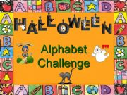 English powerpoint: Halloween Alphabet Challenge