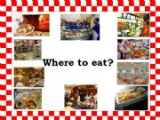 English powerpoint: Eating Places