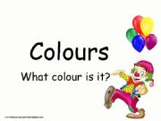 English powerpoint: colours presentation for kids (editable)