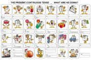 English powerpoint: PRESENT CONTINUOUS TENSE - ACTIVITIES