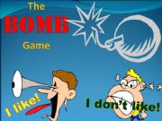 English powerpoint: BOMB game - Food - I like_I don´t like