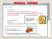 English powerpoint: MODAL VERBS (WILL+WOULD+SHALL+SHOULD) PART III - RULES + EXAMPLES