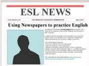 English powerpoint: Understanding Newspaper Articles