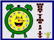 English powerpoint: WHAT TIME IS IT? (with sounds)