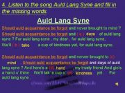 English powerpoint: An English song ( with sound )