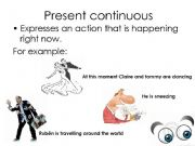 English powerpoint: present continous