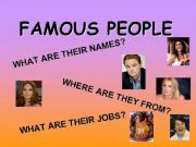 English powerpoint: Famous people