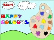 English powerpoint: HAPPY COLOURS - GAME -