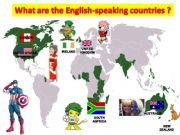 English powerpoint: the english speaking world