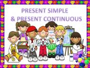 English powerpoint: PRESENT SIMPLE & CONTINUOUS 1 (GAME)