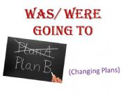 English powerpoint: Was Were Going to