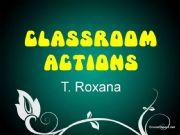 English powerpoint: Classroom Actions