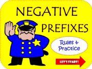 English powerpoint: WORD BUILDING: negative prefixes