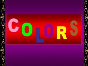 English powerpoint: COLORS