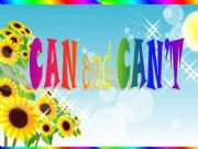 English powerpoint: CAN and CAN´T