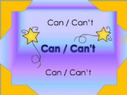 English powerpoint: Can/can´t