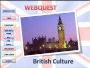 English powerpoint: Webquest about British Culture