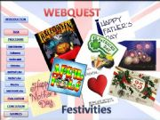 English powerpoint: Webquest about festivities