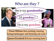 English powerpoint: Family members with the Royal Family