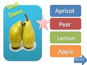 English powerpoint: fruits & vegetables ppt game