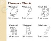 English powerpoint: Classroom Objects