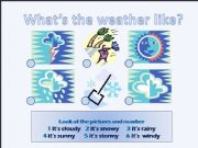 English powerpoint: What´s the weather like?