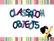 English powerpoint: School Objects *35 slides & editible*