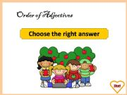 English powerpoint: Order of Adjectives - Exercises